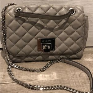 Michael Kors Grey Quilted Bag